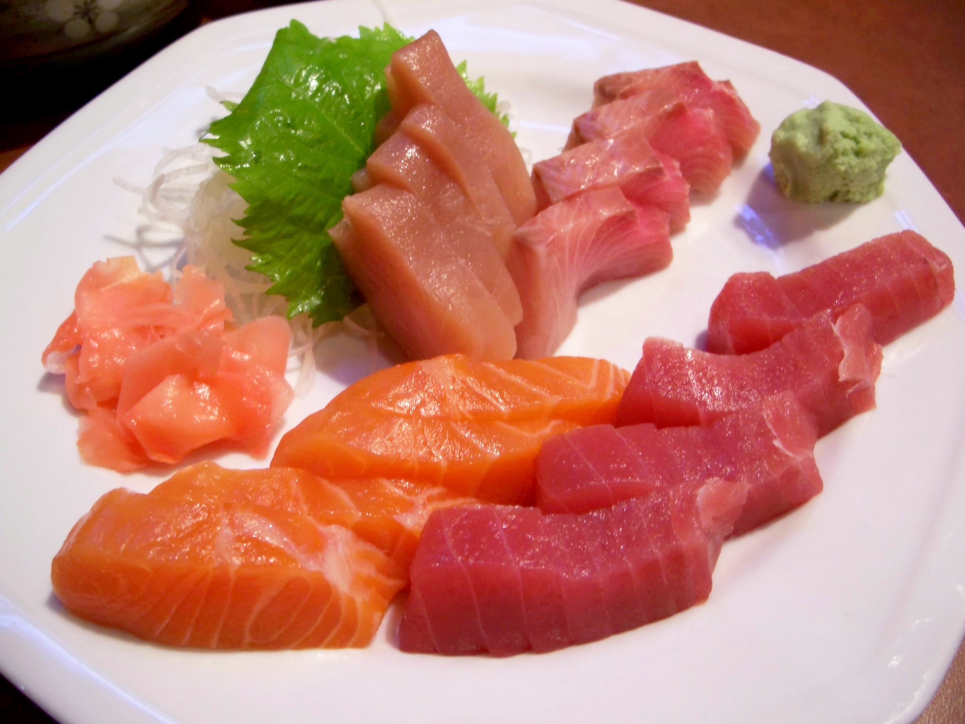 Sashimi – thinly sliced, raw seafood. The main difference is the ...
